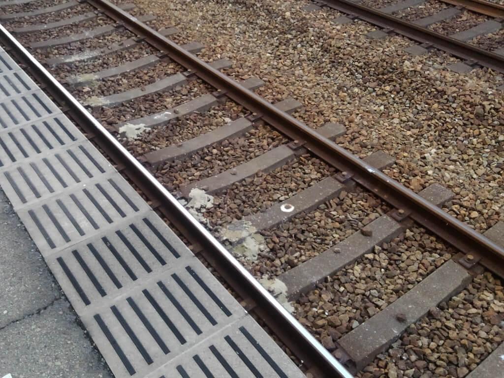 久寿川駅の線路