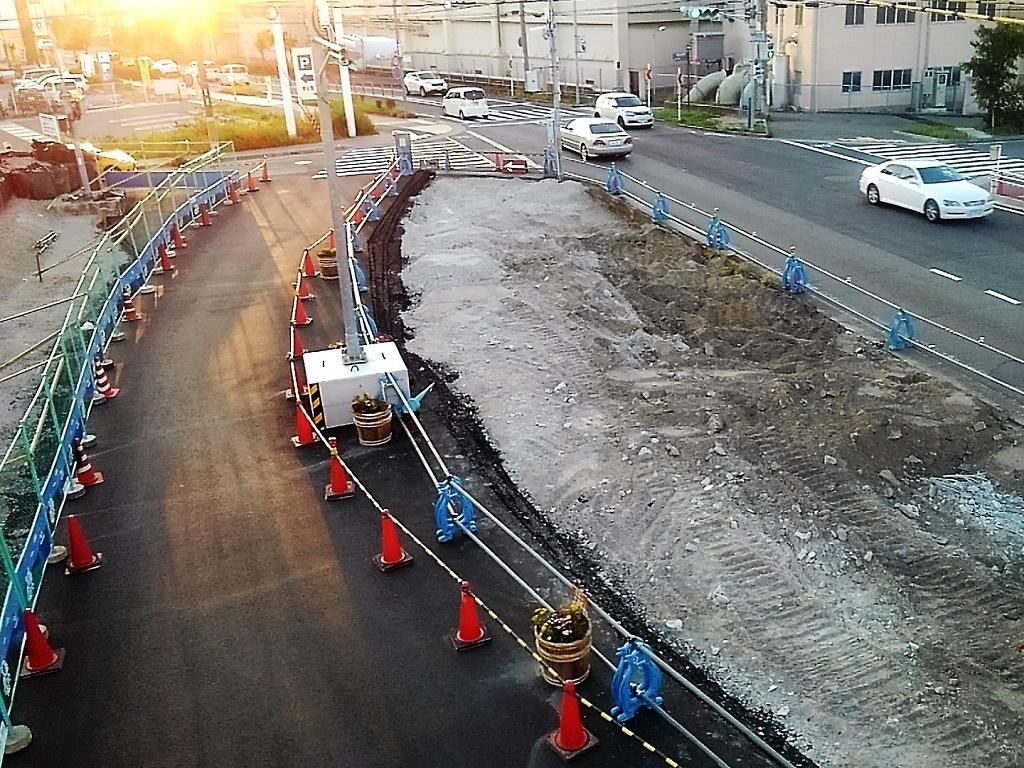 交差点の工事